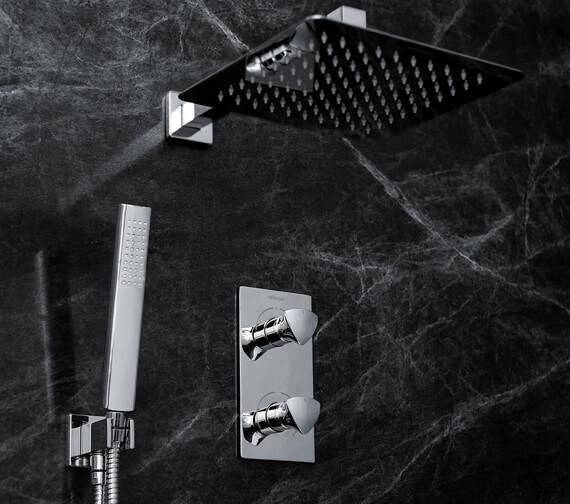 Bristan Bright Fixed Head Shower Pack