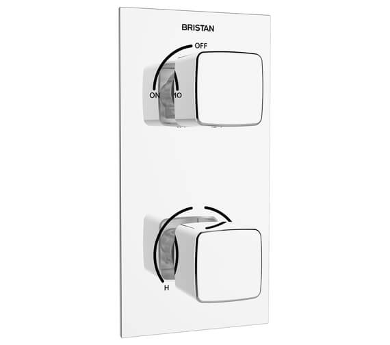 Bristan Cobalt Thermostatic Recessed Dual Control Shower Valve