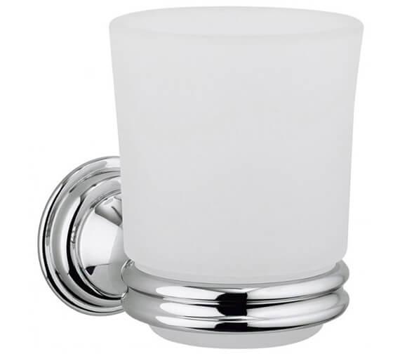 Crosswater Belgravia Glass Tumbler And Chrome Holder