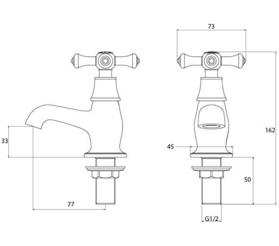 Technical drawing QS-V54053 / K 1/2 C
