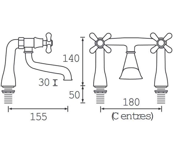 Technical drawing QS-V54051 / K BF C