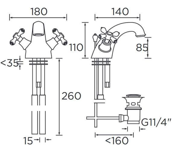 Technical drawing QS-V54057 / K BAS C