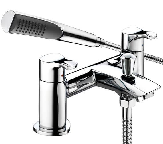 Bristan Capri Chrome Bath Shower Mixer Tap With Kit