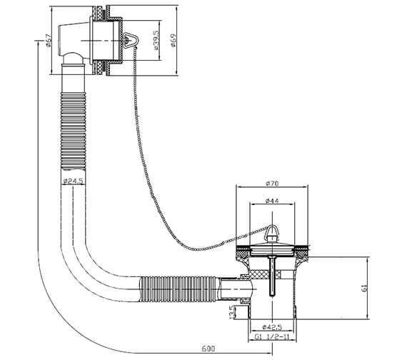 Technical drawing QS-V60858 / THC11