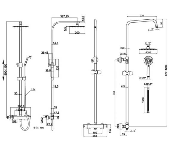 Technical drawing QS-V103085 / RAKSHW6009