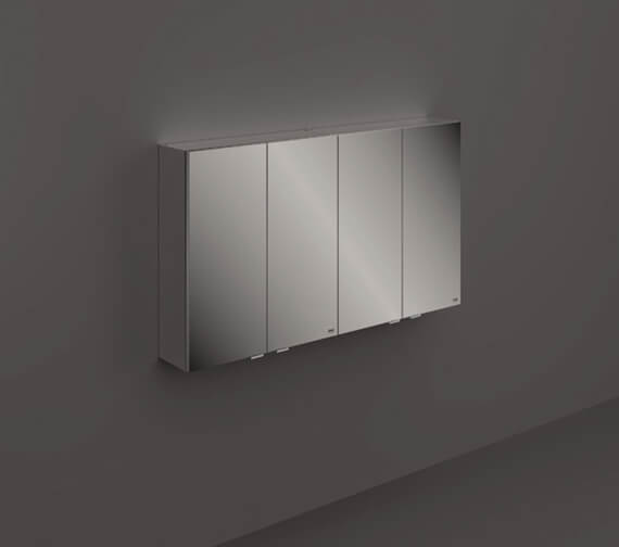 RAK Joy 1200mm 4 Door Wall Hung Mirror Cabinet