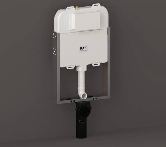 RAK Ecofix Slimline Hidden Cistern 80mm with Metal Frame for Wall Hung WC Unit