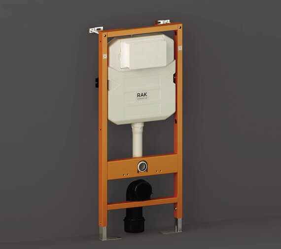 RAK 12cm Front Flush Regular Concealed Cistern And Frame For Wall Hung Pan - Frame Height 114cm