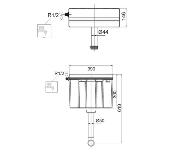 Technical drawing QS-V103121 / FS12SRAKS1