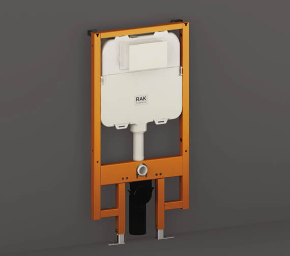 RAK Ecofix 8cm Slimline Front Flush Regular Concealed Cistern and Frame for Wall Hung Pan - Frame Height 114cm