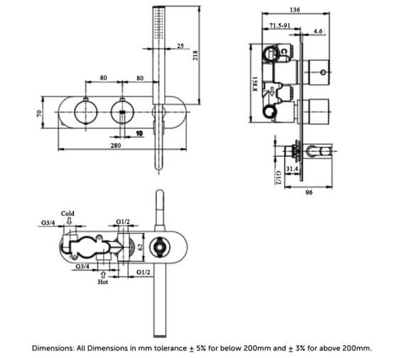 Technical drawing QS-V103130 / RAKFSV2504RHS