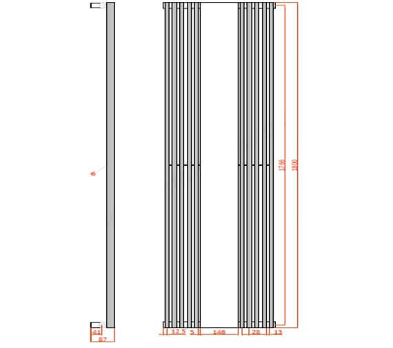 Technical drawing QS-V103136 / BURJ4201800W