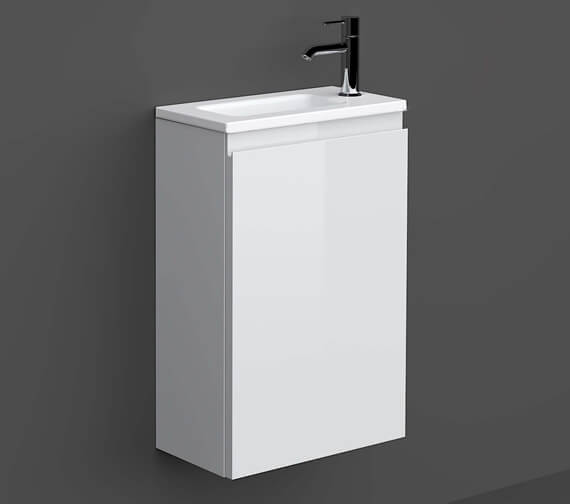 RAK Joy Wall Hung 400mm Wide 1-Door Vanity Unit With Ceramic Basin