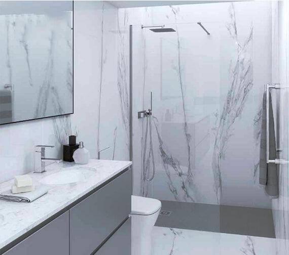 RAK Feeling 2000mm High 8mm Wetroom Glass Panel