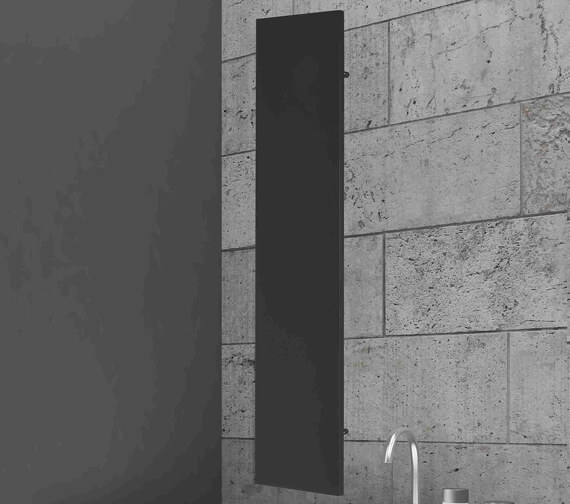 RAK Colosseum Flat Panel 400 x 1800mm Vertical Radiator - Anthracite