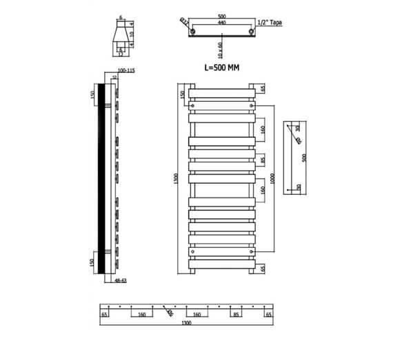Technical drawing QS-V103156 / TEMP500950C
