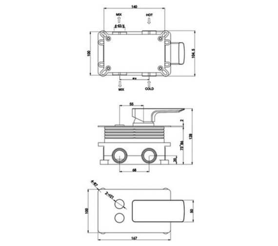 Technical drawing QS-V103158 / RAKSUM3301