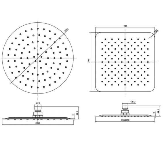 Technical drawing QS-V103165 / RAKSHW1006B