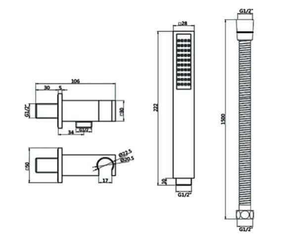 Technical drawing QS-V103168 / RAKSHW4002