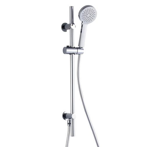 RAK Round Slider Rail Shower Kit With 3 Function Handset and Integral Wall Outlet