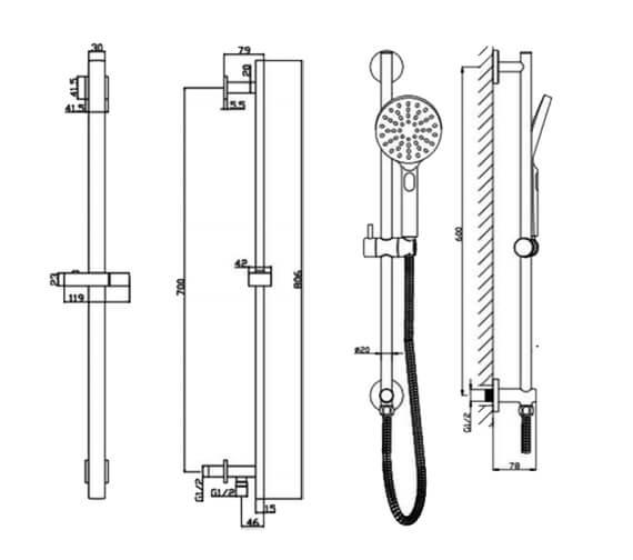 Technical drawing QS-V103167 / RAKSHW1010
