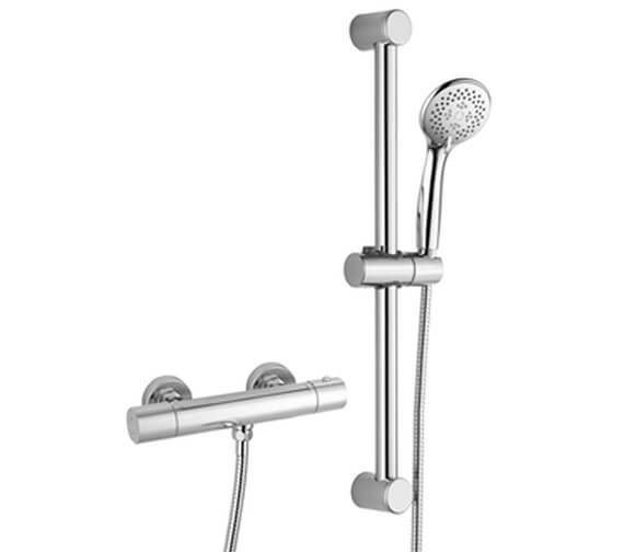 RAK Cool Touch Thermostatic Bar Shower Valve With Slider Rail Kit - Sizes Available