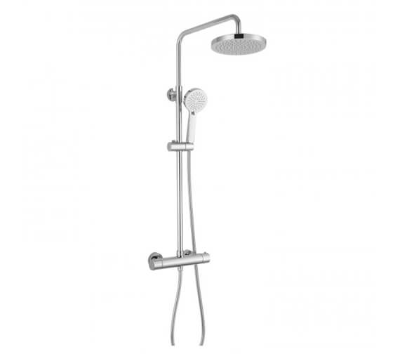 RAK Cool Touch Thermostatic Shower Column With Fixed Head And Shower Kit