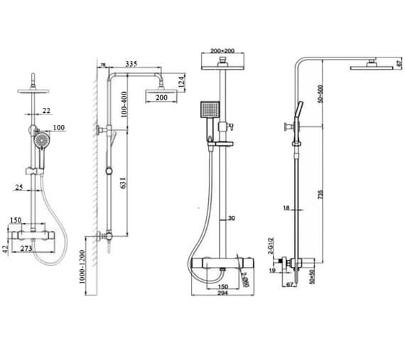 Technical drawing QS-V103169 / RAKSHW6011A