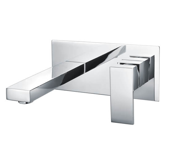 RAK Cubis Wall Mounted Basin Mixer Tap With Back Plate