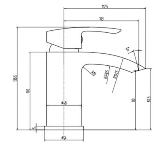 Technical drawing QS-V103185 / RAKCRV3002