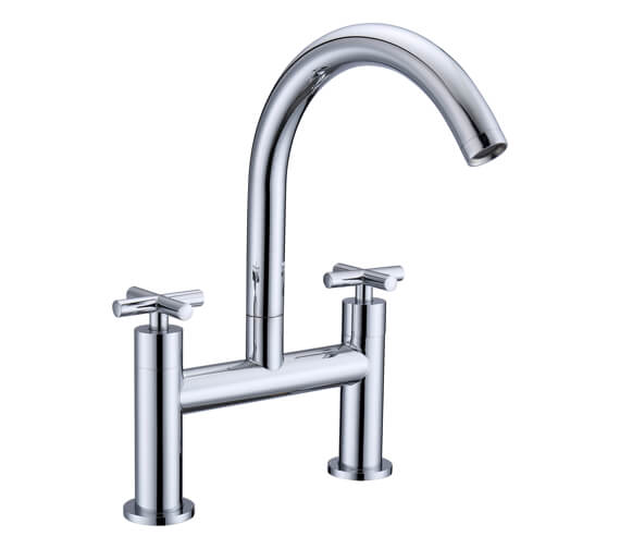 RAK Ella Crosshead Bath Filler Tap Deck Mounted