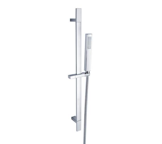 RAK Square Slide Rail Kit And Single Function Shower Handset
