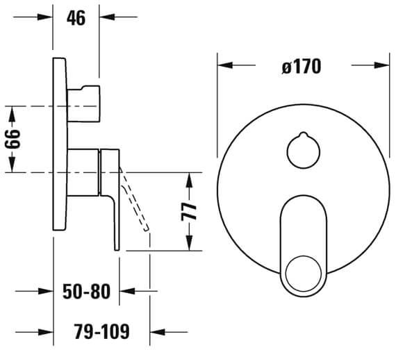 Additional image of Duravit B.3 Single Lever Shower Mixer Valve