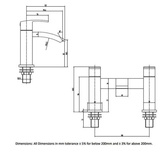 Technical drawing QS-V103206 / RAKMOO3004