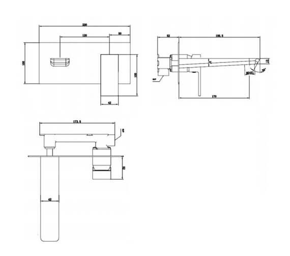 Technical drawing QS-V103208 / RAKMOO3007