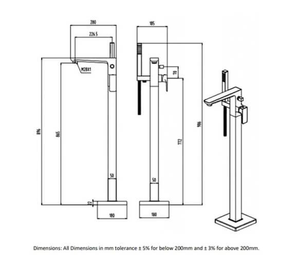 Technical drawing QS-V103211 / RAKMOO3014