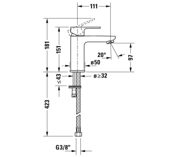 Technical drawing QS-V102780 / B31010002010