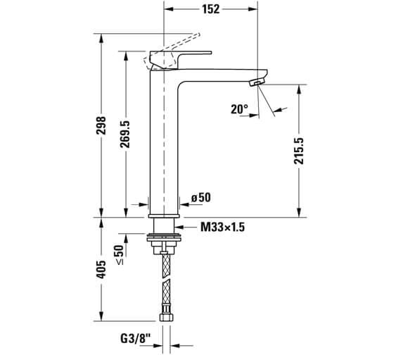 Alternate image of Duravit B.3 Single Lever Basin Mixer Tap