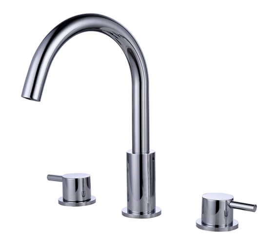 RAK Prima Tech 3-Hole Bath Filler Tap Deck Mounted