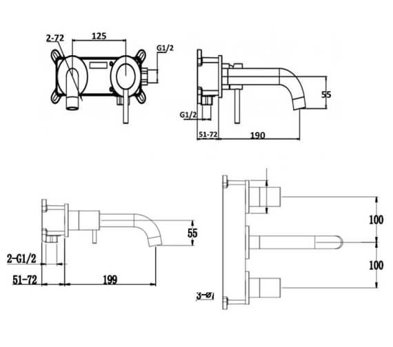 Technical drawing QS-V103221 / RAKPRT3008
