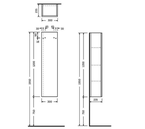 Technical drawing QS-V103239 / JOYTS120PWH