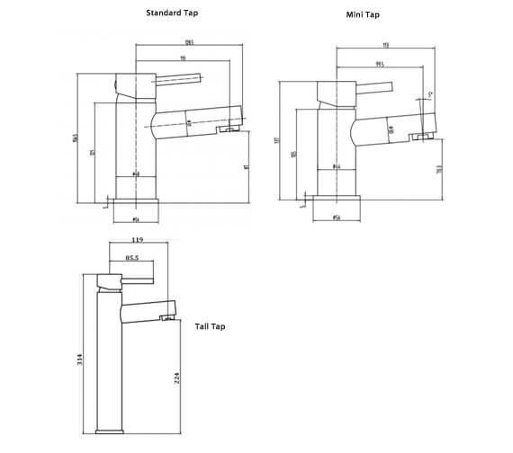 Technical drawing QS-V103216 / RAKPRI3002