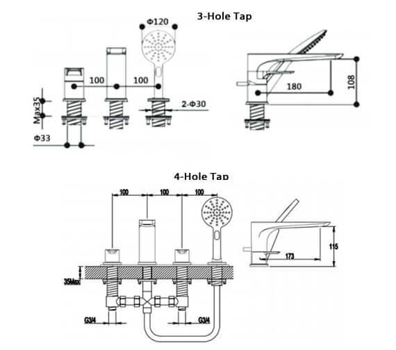 Technical drawing QS-V103244 / RAKSPO3012
