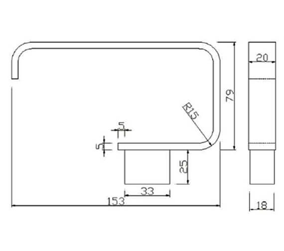 Technical drawing QS-V103282 / RAKHAR9901