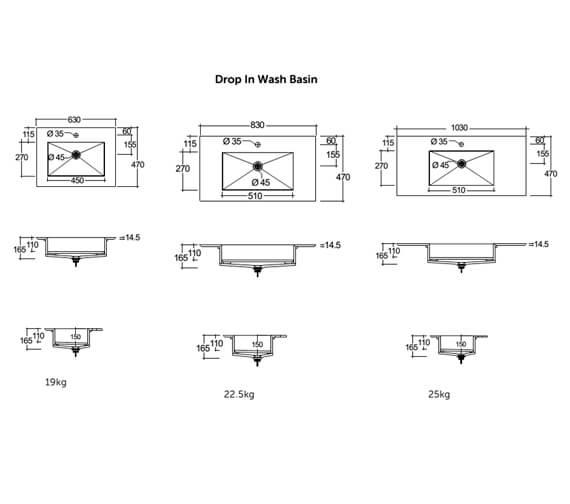 Technical drawing QS-V103240 / JOYWH060PWH