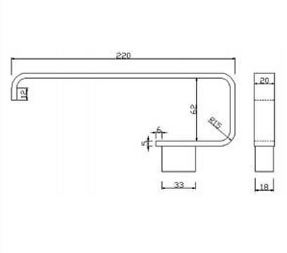 Technical drawing QS-V103283 / RAKHAR9902