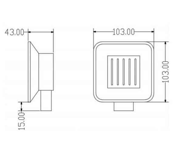 Technical drawing QS-V103285 / RAKHAR9905