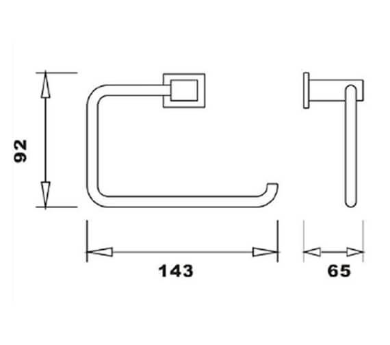 Technical drawing QS-V103300 / RAKCUB9901