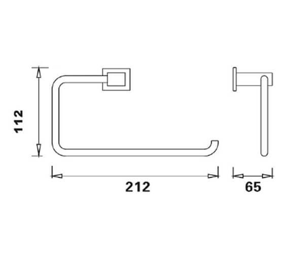 Technical drawing QS-V103301 / RAKCUB9902