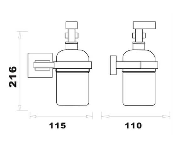 Technical drawing QS-V103305 / RAKCUB9907